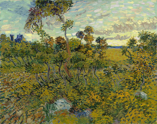 Painting - Sunset At Montmajour by Vincent van Gogh