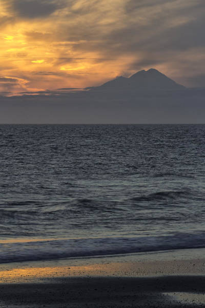 Mount Redoubt Photograph - Sunset At Mount Redoubt by Jayme Spoolstra