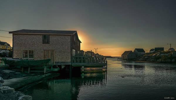 Halifax Nova Scotia Digital Art - Sunset At Peggy's Cove II by Ken Morris