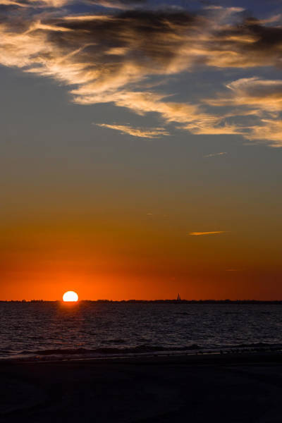 Photograph - Sunset At Sanibel by Ed Gleichman