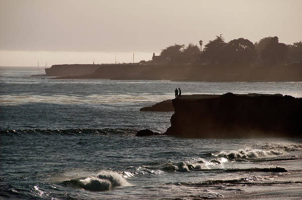 Sunset At Santa Cruz Beach Art Print