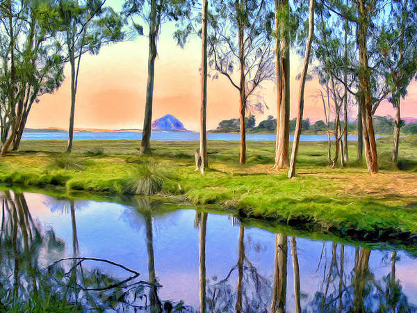 Morro Bay Painting - Sunset At Sweet Springs by Dominic Piperata