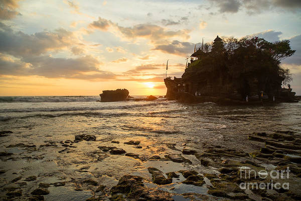 Wall Art - Photograph - Sunset At Tanah Lot Temple Bali by Julia Hiebaum