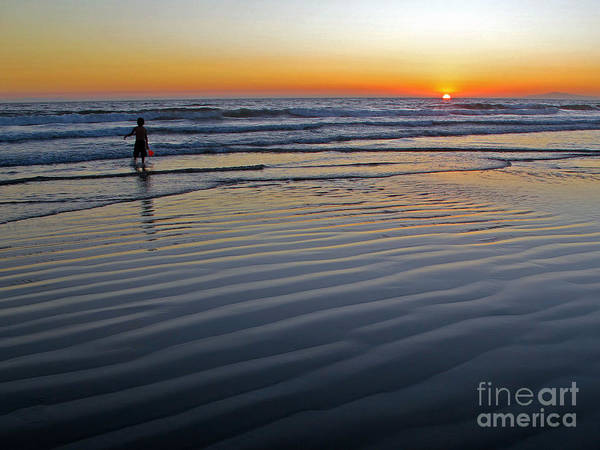 Photograph - Sunset At The Beach by Kelly Holm