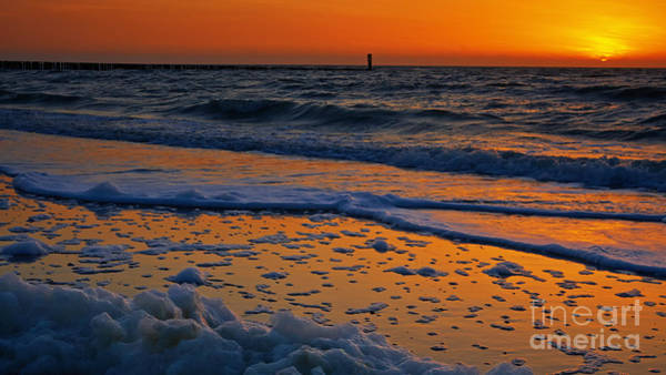 Photograph - Sunset At The Beach by Nick  Biemans