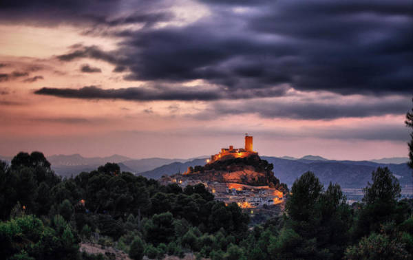 Photograph - Sunset At The Castle by Pedro Fernandez