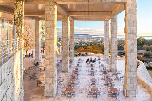 Photograph - Sunset At The Getty by Jim Moss