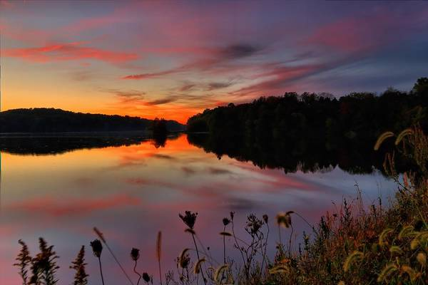Brian Wilson Wall Art - Photograph - Sunset At The Lake by Brian Wilson