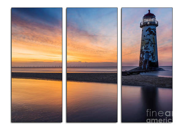 Photograph - Sunset At The Lighthouse Tryptych by Ian Mitchell