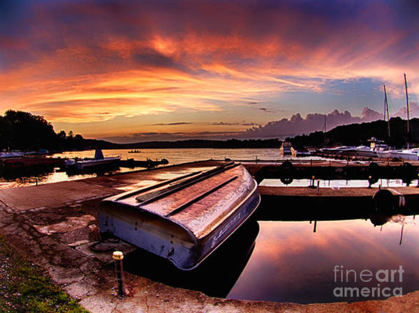 Photograph - Sunset At The Marina by Mark Miller