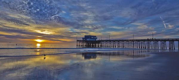 Roller Blades Photograph - Sunset At The Newport Pier by Harold Vaagan