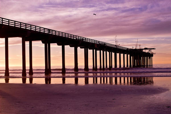 Scripps Pier Photograph - Sunset At The Pier by Brooke Fuller