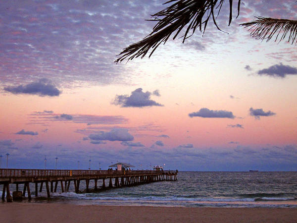 Anglin Wall Art - Photograph - Sunset At The Pier by Brooke Trace