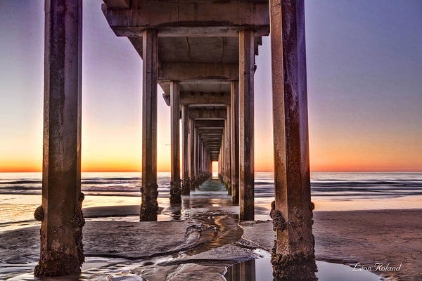 Scripps Pier Photograph - Sunset At The Pier by Leon Roland