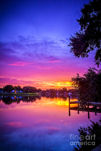 Tarpon Wall Art - Photograph - Sunset At The Pier by Marvin Spates
