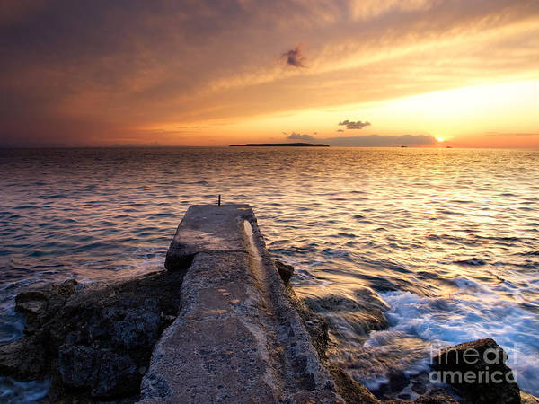 Losinj Photograph - Sunset At The Pier by Sinisa Botas