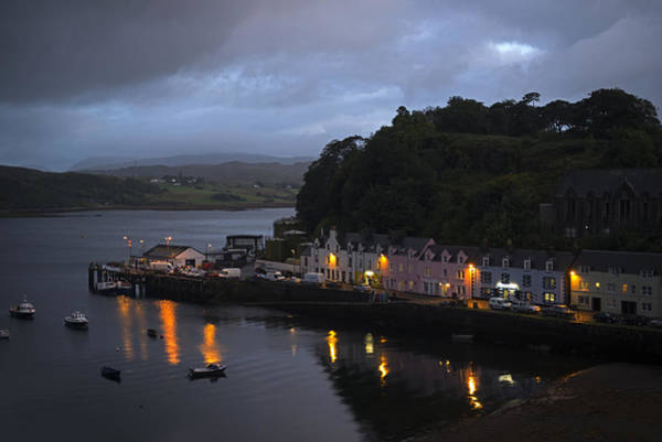 Photograph - Sunset At The Portree Harbor Uk by Dubi Roman