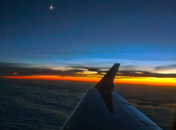 Photograph - Sunset At Thirty Thousand Feet by Ron Roberts