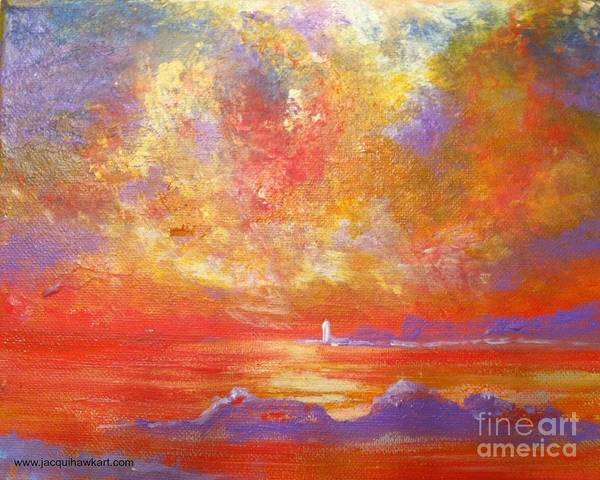 Painting - Sunset At Wingershaek Beach by Jacqui Hawk