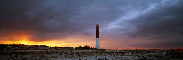 Barnegat Lighthouse Photograph - Sunset, Barnegat Lighthouse State Park by Panoramic Images