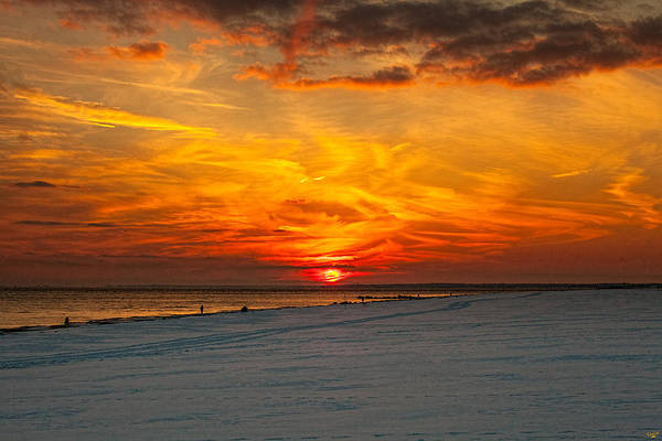 Photograph - Sunset Beach New York by Chris Lord