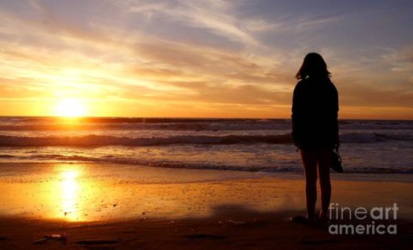 Photograph - Sunset Beach Reflection by Kerri Mortenson