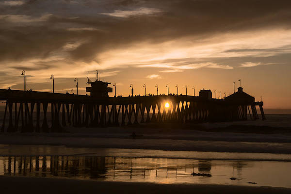 Digital Art - Sunset Beneath The Pier by Photographic Art by Russel Ray Photos