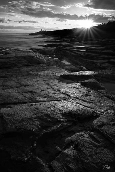 Photograph - Sunset Beyond Black And White by Lourry Legarde