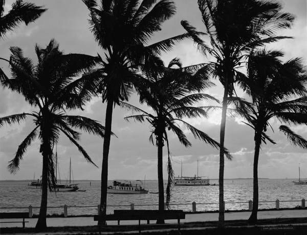 Wall Art - Photograph - Sunset, Biscayne Bay, Miami, Florida by American School