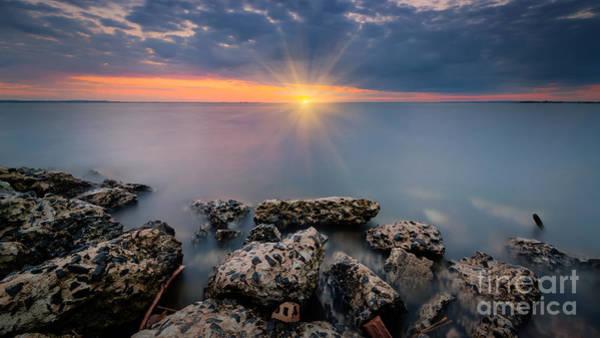 Sandy Hook Wall Art - Photograph - Sunset Bliss 16x9 Crop by Michael Ver Sprill