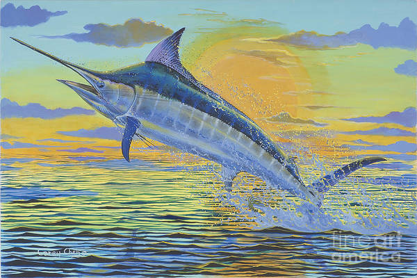 Wall Art - Painting - Sunset Blue Off0085 by Carey Chen