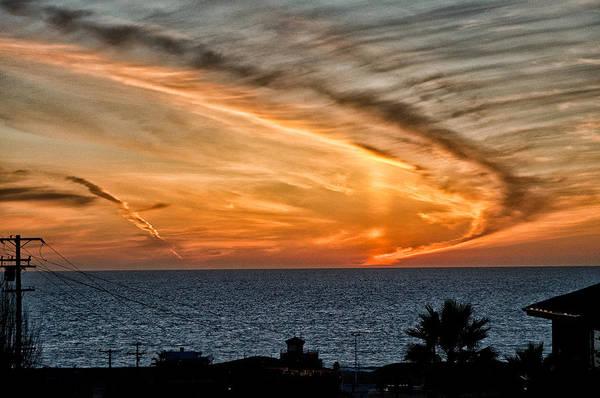 Orange Cat Photograph - Sunset Blues by Cat Connor