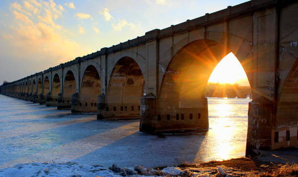 Harrisburg Pa Photograph - Sunset Bridge by Joseph Skompski