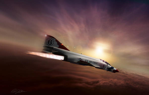 United States Air Force Digital Art - Sunset Burn by Peter Chilelli