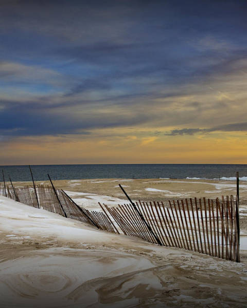 Photograph - Sunset By The Beach At Grand Haven Michigan During Winter by Randall Nyhof