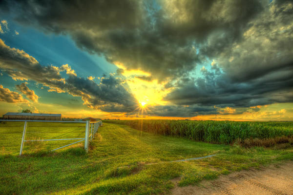 Corn Field Photograph - Sunset By The Farm by  Caleb McGinn