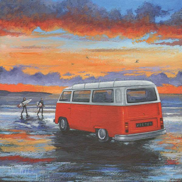 Campervan Photograph - Sunset Campervan Variant 1 by MGL Meiklejohn Graphics Licensing