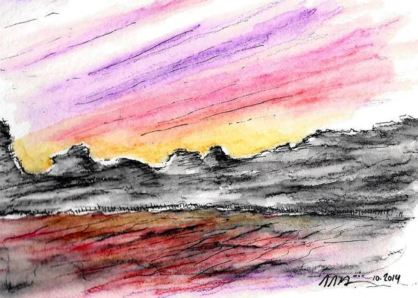 Sunset Canyon Art Print
