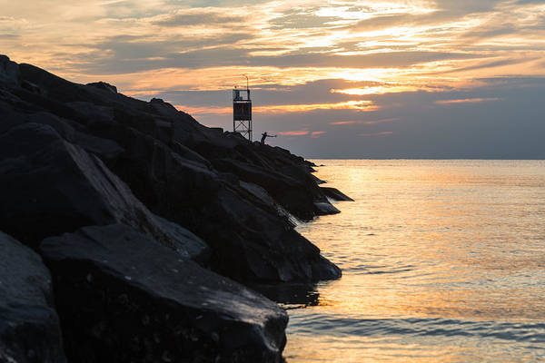 Cape May Photograph - Sunset Catch by Kristopher Schoenleber