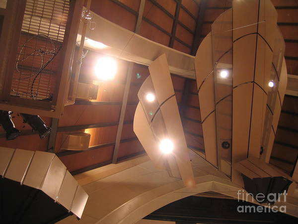 Photograph - Sunset Center Ceiling by James B Toy