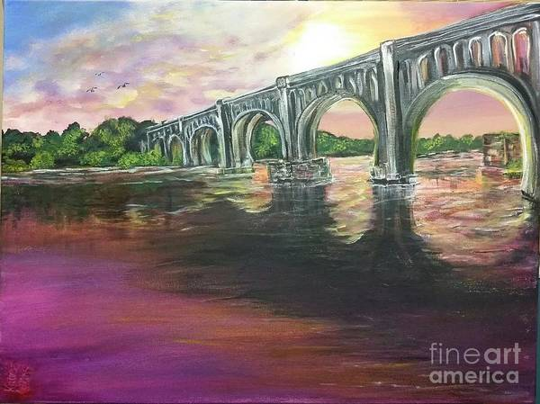 Water Foul Painting - Sunset Choo by Katie Adkins