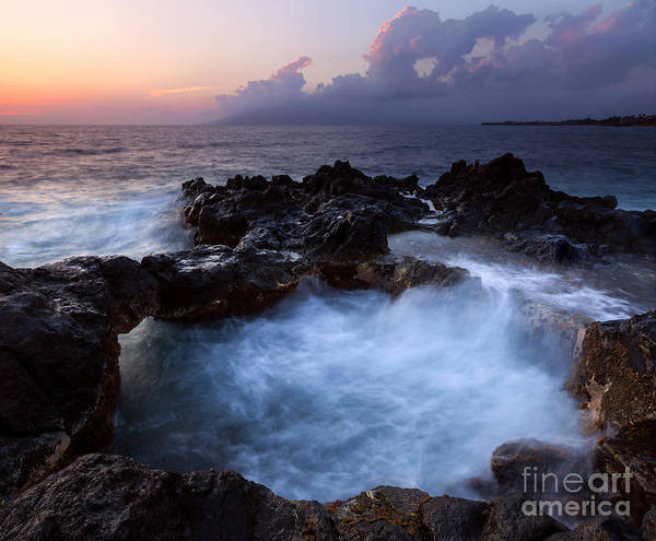 Maui Sunset Wall Art - Photograph - Sunset Churn by Mike Dawson