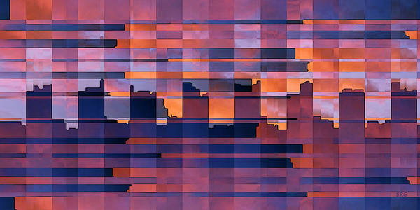 Wall Art - Digital Art - Sunset City by Ben and Raisa Gertsberg
