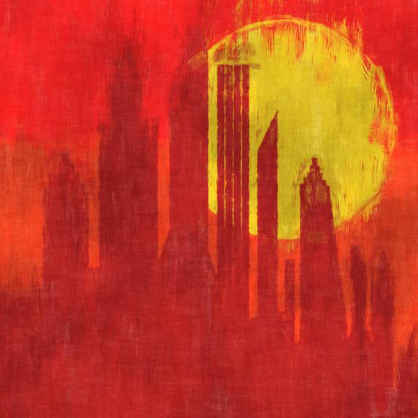 Wall Art - Digital Art - Sunset City by David G Paul