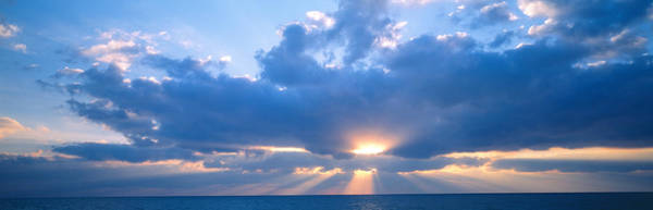 Sea Of Serenity Photograph - Sunset, Clouds, Gulf Of Mexico by Panoramic Images