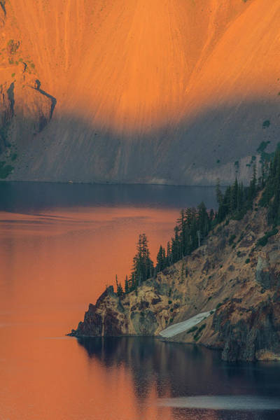 Crater Lake National Park Photograph - Sunset Colors The Waters At Crater Lake by Chuck Haney