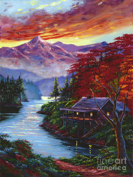 Painting - Sunset Cove by David Lloyd Glover