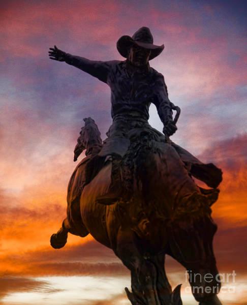 Photograph - Sunset Cowboy by Brenda Kean