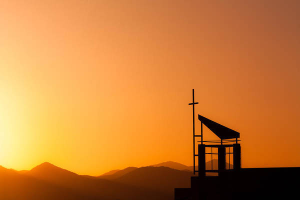 Sunset Cross Art Print