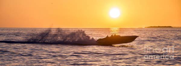 Motor Boat Photograph - Sunset Cruise by Jon Neidert